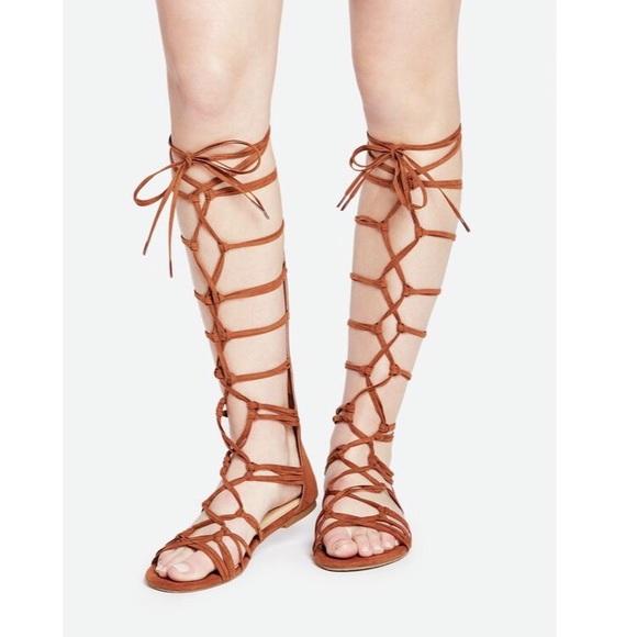 f537c7404b2 JustFab Shoes - Just Fab Wide Calf Lace Up Gladiators Sandals 8.5